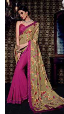 Georgette Floral Saree
